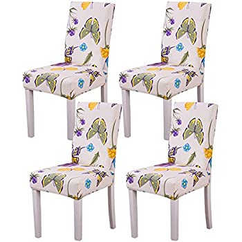 YISUN Dining Chair Slipcovers,[Scenery series] Stretch Removable Washable Dining Chair Protector Cover Seat Slipcover for Hotel,Dining Room,Ceremony ...