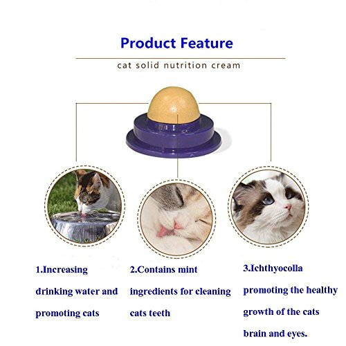 Picture of Keklle Cat Treats Sugar Ball-Cat Snacks Candy Licking Solid Nutrition Gel Energy Ball Toy for Cats Cat Toys 2 Pack