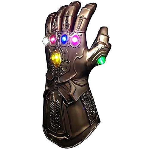 CYCG Marvel Avengers Thanos Infinity War Gauntlet Unlimited Gloves con 6 LED Luminoso Pietra Preziosa