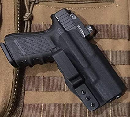 Amazon Com Mie Productions Kydex Iwb Holster With Rmr Glock 19 23