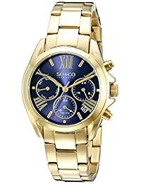 SO & CO New York  Women's 5064.2 Madison Analog Display Quartz Gold Watch