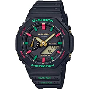 51KcUKPM3tL. SS300  - Casio G-shock Throwback 1990s Carbon Core Guard GA-2100TH-1AJF Mens