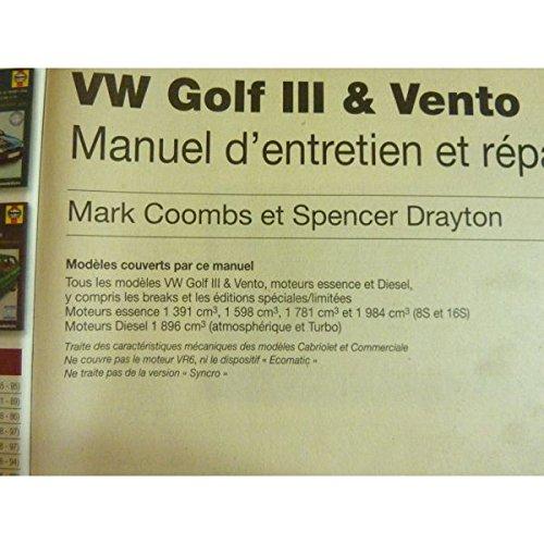 Volkswagen Golf III / Vento (French service & repair manuals) (French Edition): 9781859602003: Amazon.com: Books