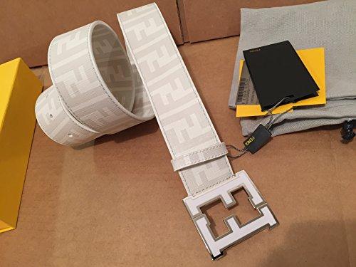 Men's Fendi Zucca white Belt (95cm waist - Designer Belt