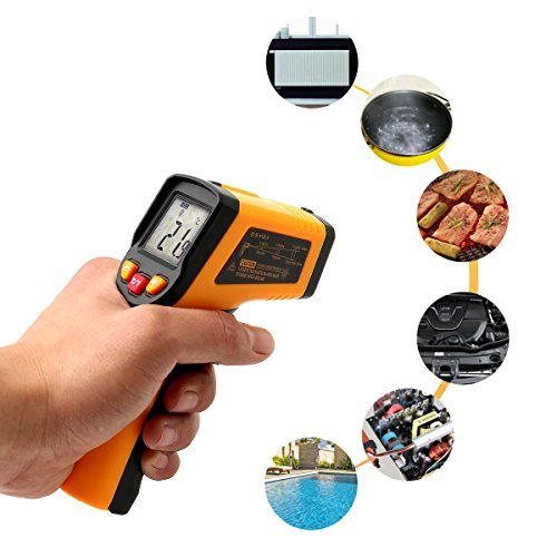 SOLOOP Non-contact Digital Laser Infrared Thermometer Temperature Gun IR Thermometer -50°C~400°C (-58°F~752°F) For Sale