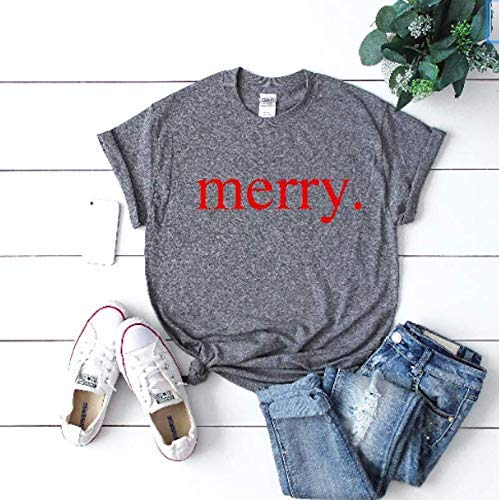 Cute Womens Top - Christmas Cheer - Merry Xmas - Holiday Tee - Womens Clothing