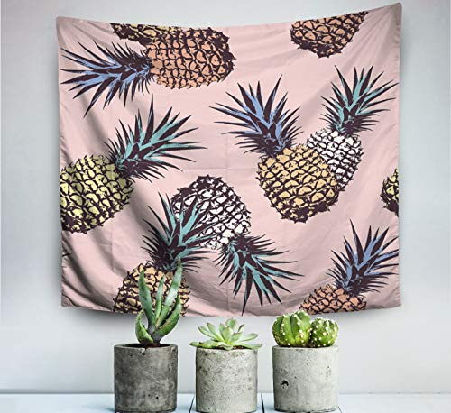 (Pamime Home Decor Tapestry Christmas Pineapple pop Art Pattern Wall Tapestry Hanging Tapestries Dorm Room Bedroom Living Room (50x60 Inches(130x150cm))