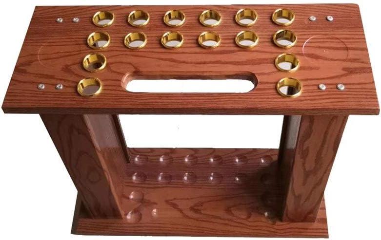 LCRACK プールの合図、垂直複合木材ビリヤード耐摩耗性鋼管ビリヤードルームフロアスタンド多機能スクエア (Size : 16 holes)  16 holes