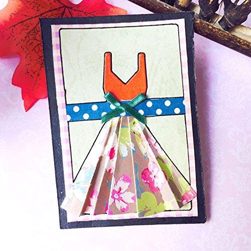 Hot Sale! Hongxin Metal Cutting Dies Making Crafts Elegant Women Dress Shape Pattern DIY Metal Cutting Dies Stencils Scrapbooking Photo Album Embossing Paper Card Creative Gift For -