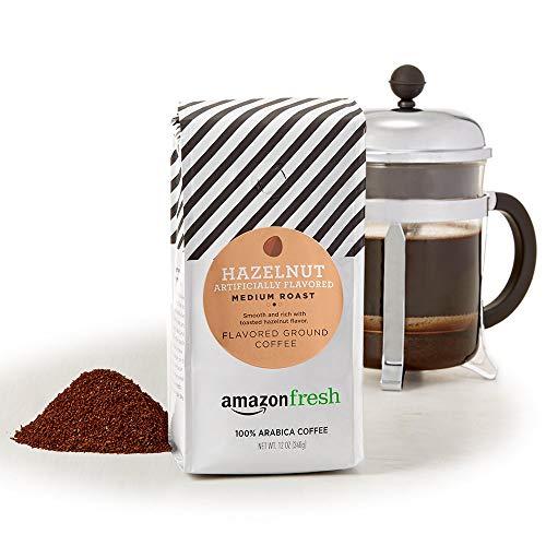 AmazonFresh Hazelnut Flavored Coffee, Ground, Medium Roast, 12 Ounce (Pack of 3)