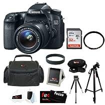 Canon EOS 70D SLR CMOS 20.2MP Digital Camera EFS 18-55mm Lens + 32GB Memory C...