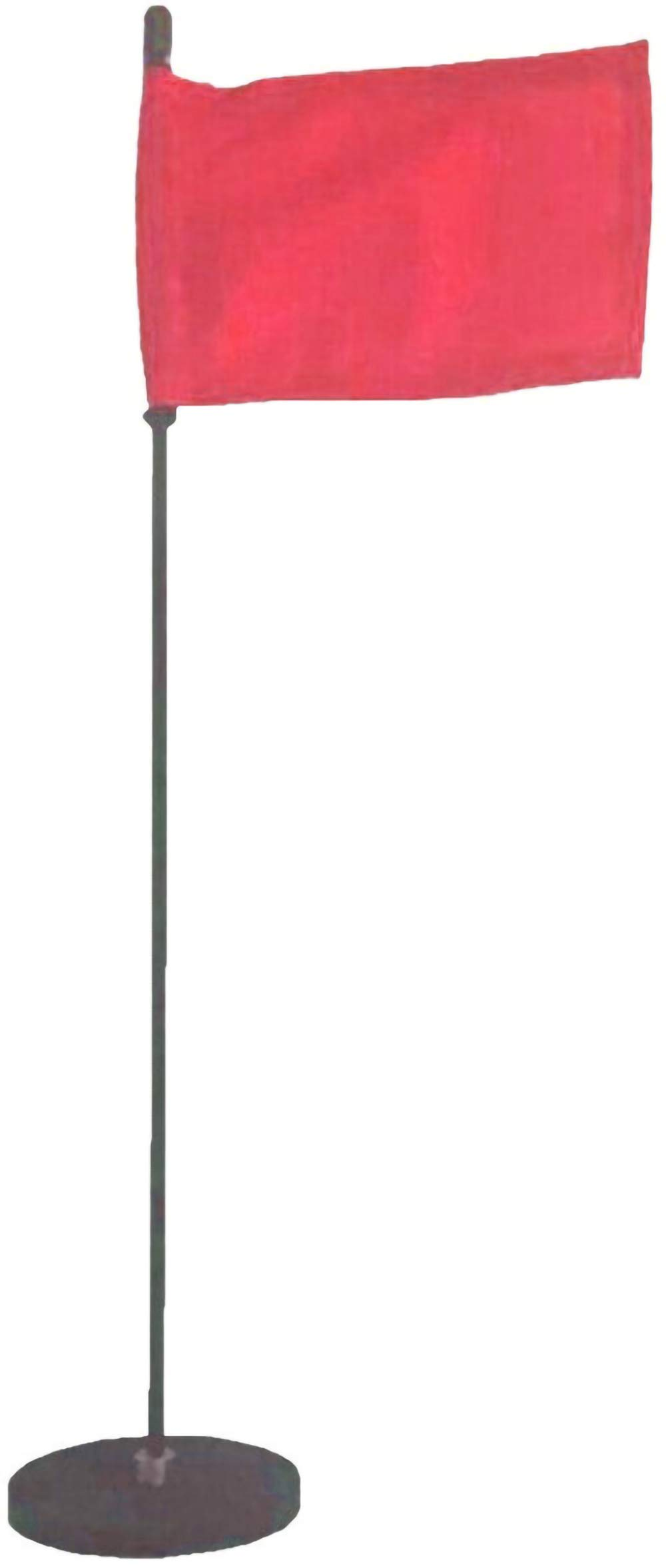 Magnetic Base Flag Holder 1 FT. Steel Pole - Hold Force 212 lbs. - 4 x 6 Red Flag