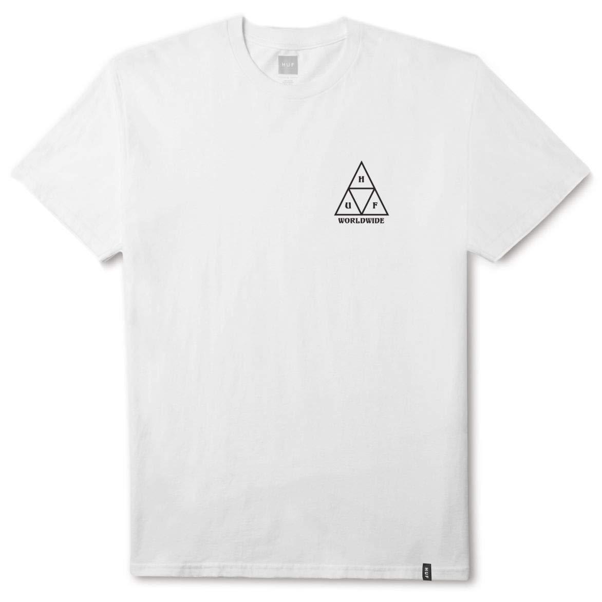 Amazon.com  HUF Mens Ice Rose Triangle T-Shirt 3a873d317673