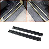 Micropower Door Entry Sill Guards with Jeep Logo for 2007-2016 Jeep Wrangler Jk(2 Door) ABS Black