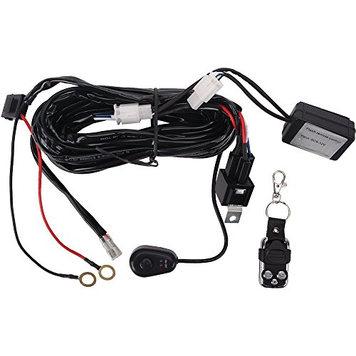 Northpole Light Remote Control Wiring Harness for LED Light Bar, 40A Fuse Remote On Off Switch Relay Wiring Harness for LED Work Lights Driving fog lights