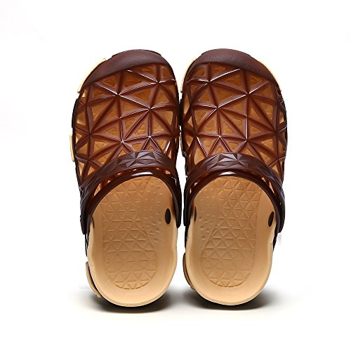 SITAILE Women Men Lightweight Beach Sandals Outdoor Clogs Breathable Water Sandal Slippers Brown