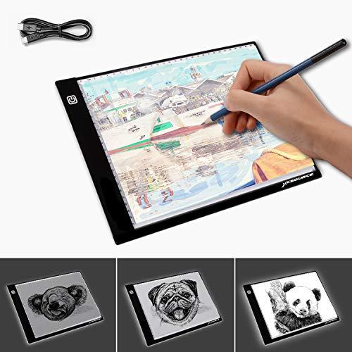 (LED Light Box A4 Light Pad Ultra Slim Artcraft Drawing Board Stencil Tracing Tattoo Copy Table Pad with Brightness Adjustable)