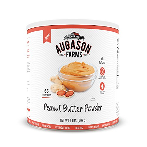 Augason Farms Peanut Butter Powder 2 lbs No. 10 Can by Augason Farms