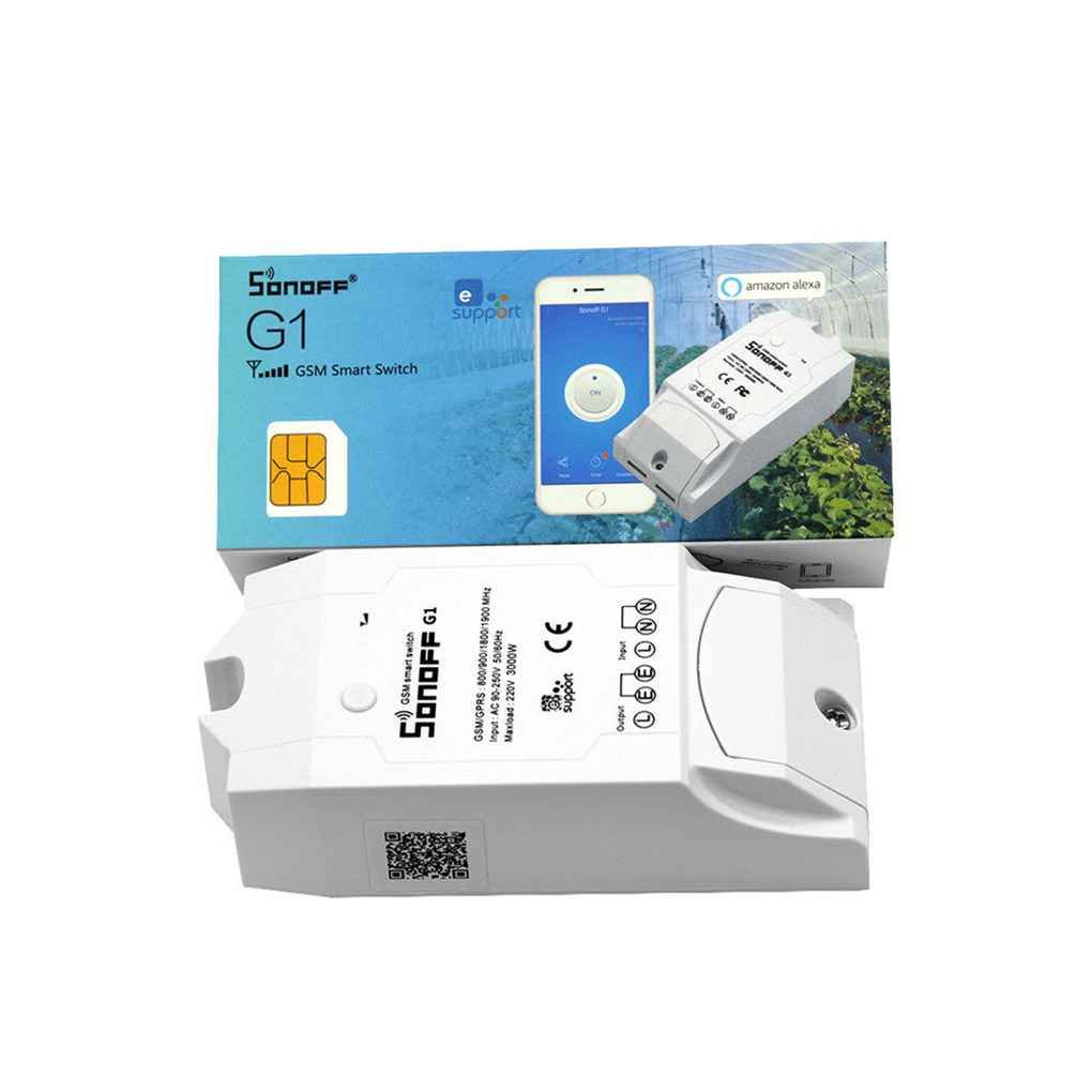 M-Egal Sonoff G1 WiFi Switch GPRS/GSM Remote Power Smart Switch Control Home Appliances From Anywhere via GPRS Network Compatible with Alexa