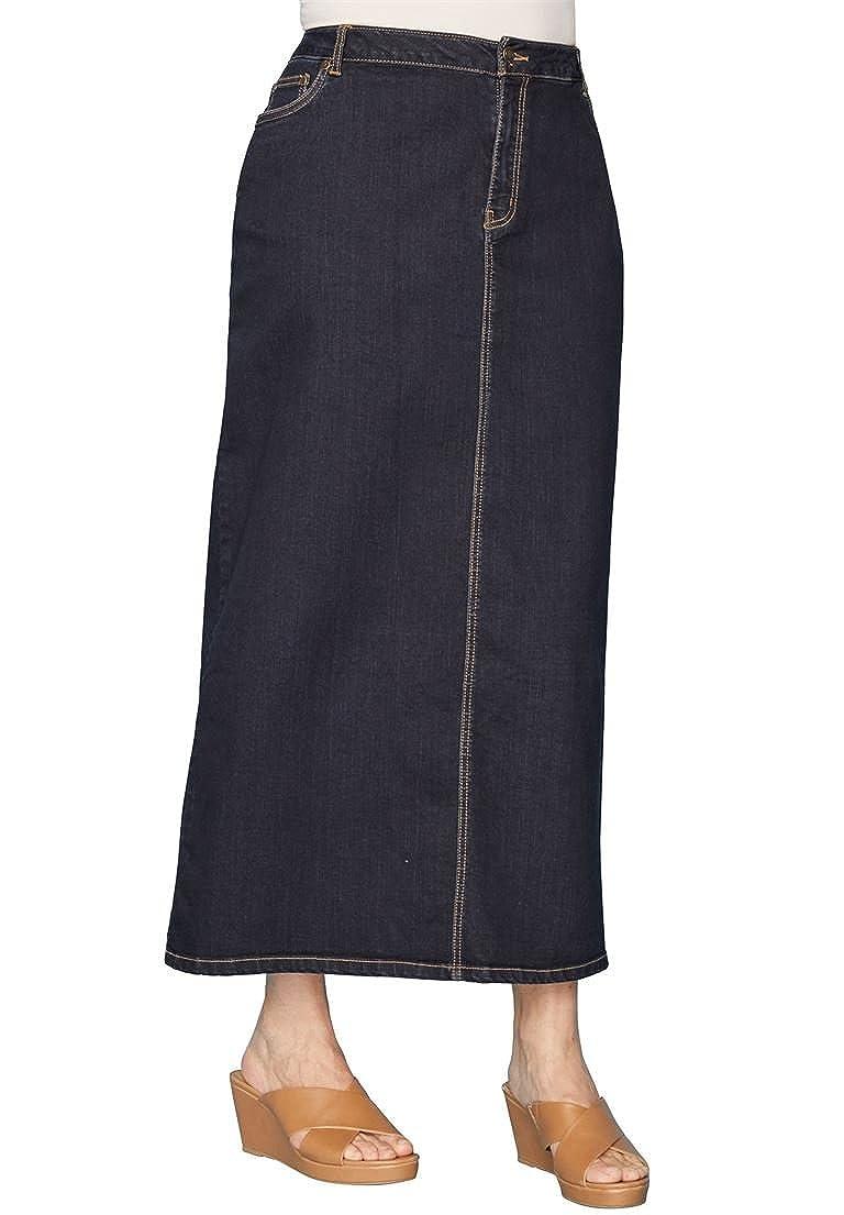 8a2027cae531 Jessica London Women s Plus Size True Fit Denim Maxi Skirt at Amazon Women s  Clothing store