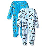 Rosie Pope Baby Boys Coveralls 2 Pack, Party Animal, 0-3 Months