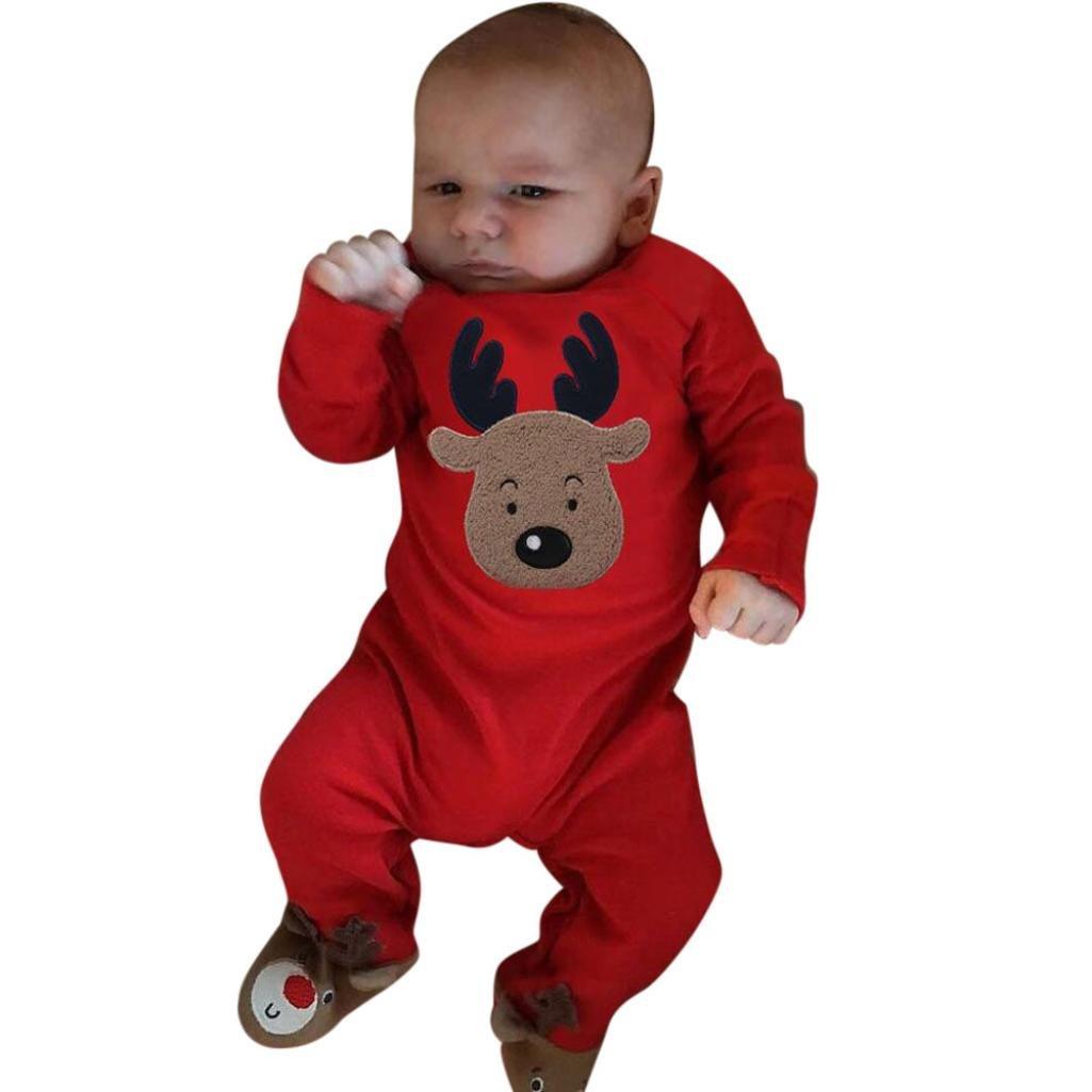 Challen Newborn Infant Baby Boy Girl Clothes Set Deer Arrow Hoodie Tops+Pants Outfits Clothes Set