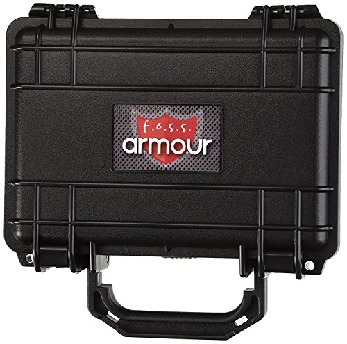 F.e.s.s. Fess Armour Waterproof Crushproof Air tight Floats On Water Solid Black Travel Cigar Humidor Capacity 10-15 - Plastic Humidor Cigar 10 Travel