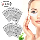 #8: Eye Gel Pads, 50 Pairs Under Eye Pads, Lint Free Under Eye Gel Patches for Eyelash Extension Supplies by Adecco LLC