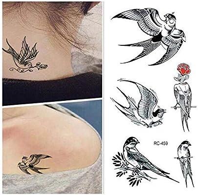 DRTHUKG Etiqueta Engomada del Tatuaje Pegatinas De Tatuaje Pájaros ...
