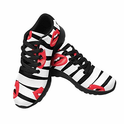 Interestprint Kvinnor Trail Löparskor Jogging Lätta Sport Gå Atletiska Sneakers Sweet Kiss Multi 1