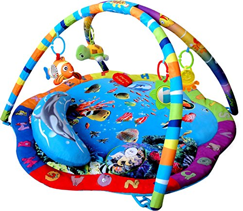 Baby Playmat, Play Gym, Musical Activity Gym stunning Ocean Sealife style...