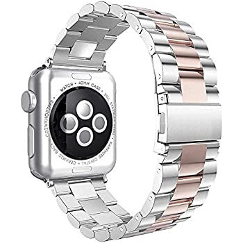 apple 3 bands. apple watch band series 1 2 3, handygear sports stainless steel bracelet strap 3 bands r