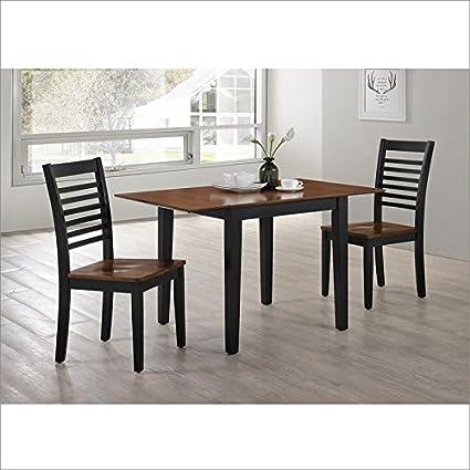 Simmons Upholstery 5004 53 Dining Room Set, Ebony/Oak