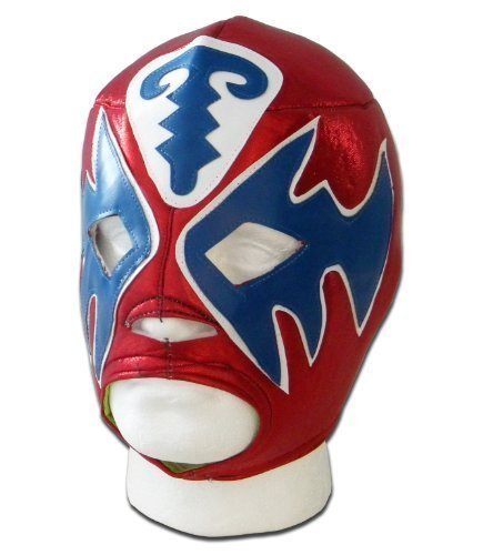Atlantis Red adult luchador mexican lucha libre wrestling mask by Luchadora by Luchadora