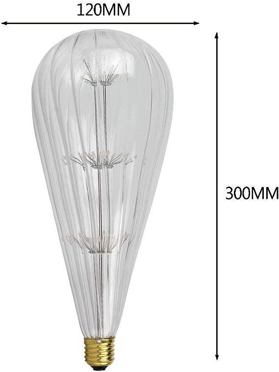 Lampadine Retro Lampadine Giganti Edison Gypsophila Loofah Meteor Shower Lampadine Decorative Antiche 3W E27 220V