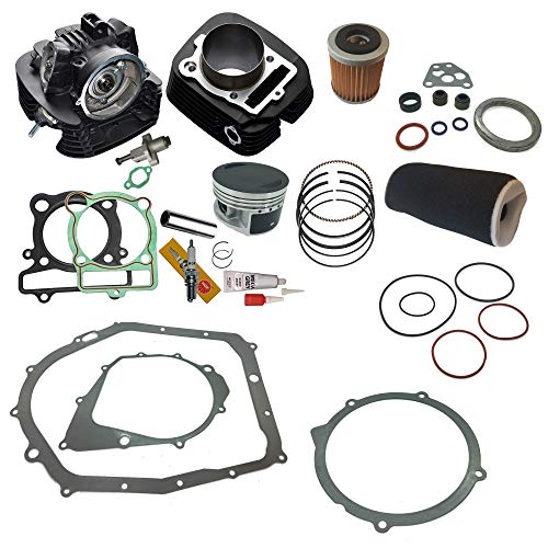 YAMAHA BIG BEAR 350 CYLINDER HEAD PISTON GASKET OIL AIR FILTER TOP END KIT SET 2x4 4x4 1987 1988 1989 1990 1991 1992 1993 1994 1995 - Bear Piston Big