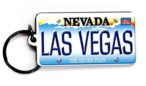"Las Vegas Nevada License Plate Acrylic Keychain 2.5"" x 1.5"""