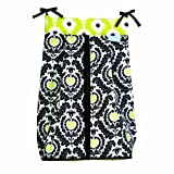 Trend Lab Waverly Rise and Shine Diaper Stacker, Black/White