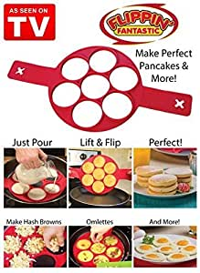 Flip Flop Pancake Maker by Flippin Fantastic-Fast Easy Way to make Perfect Panacake Two Pieces