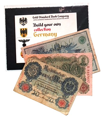 Gold Standard Book Co German Empire 3 Authentic Banknotes from Kaiser Era (Build Your Own -