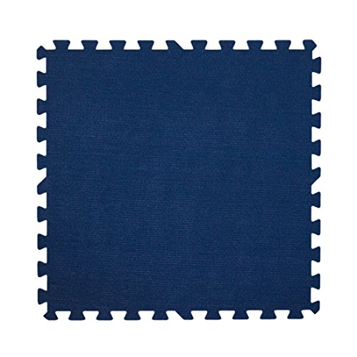 (Get Rung Carpet Topped Mat with Interlocking Foam Tiles. Great Alternative to Rolled Carpet . Excellent for Trade Show, Basement or As a Carpet Replacement Mat. (Blue, 100SQFT))