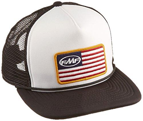 FMF Unisex-Adult Stars and Bars 2 Snapback Trucker Hat (White, One Size)