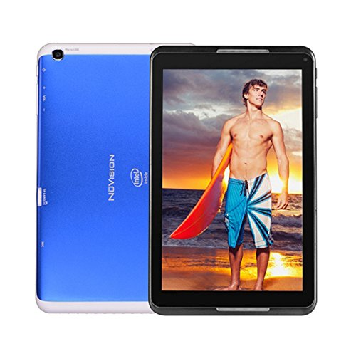 "Price comparison product image NuVision HD Wi-Fi Tablet, 8"" Screen, 1GB Memory, 32GB Storage, Android 4.4 KitKat"