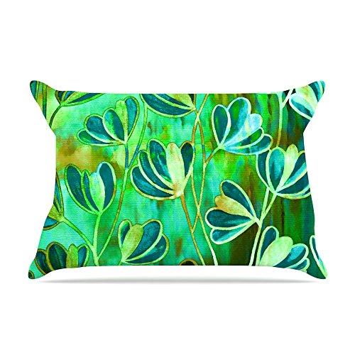 30 x 20 Kess InHouse EBI Emporium Efflorescence-Blue Green Teal Green Fleece Pillow Case