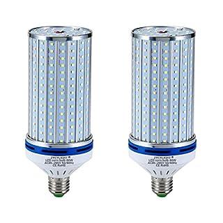 LED Corn Bulb,60 Watt (400W Equivalent),6000 Lumen,6000K- 6500K,Cool Daylight LED Street and Area Light,E26/E27 Medium Base,for Outdoor Indoor Garage Warehouse High Bay Barn Backyard and More, 2 Pack…