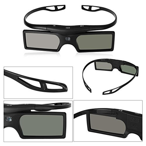 TOOGOO(R)G15-BT Bluetooth 3D Active Shutter Glasses for Epson/Samsung/SONY/SHARP Bluetooth 3D Projector TV by TOOGOO(R)