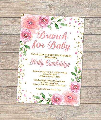 amazon com brunch baby shower invitations brunch for baby