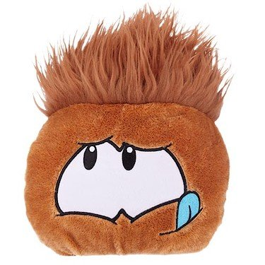 Disney Club Penguin 8 Inch JUMBO Puffle Plush Brown Includes Coin with Code! by International Playthings LLC