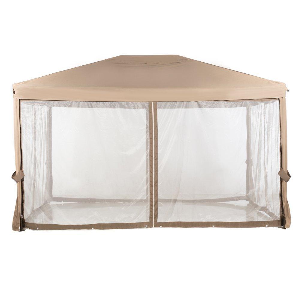 Abba Patio Replacement Top Canopy for 10x13 Feet Garden Gazebo, Brown (Frame not Include)