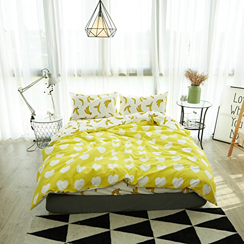 4PCS Butterfly Princess Bed Sets (Yellow) - 7